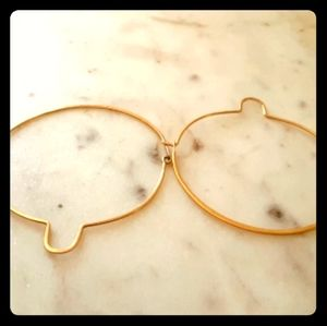 """14k gold 2"""" hoop earrings"""